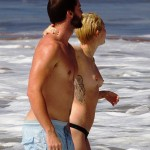 miley cyrus topless naked at beach (33)